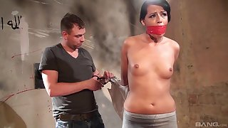 Samantha Johnson is tied in the basement waiting for a dude to please her