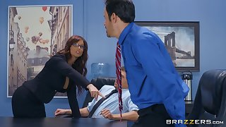 Syren De Mer adores having approving sex with regard to their way horny big wheel in the office