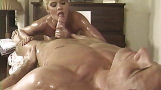 Oiled husband and tie the knot Anna Malle having some naughty fun